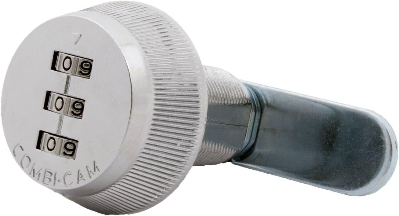 """Combi-Cam 7850R-L Combination Cam Lock, 1-1/8"""" Chrome Finish"""