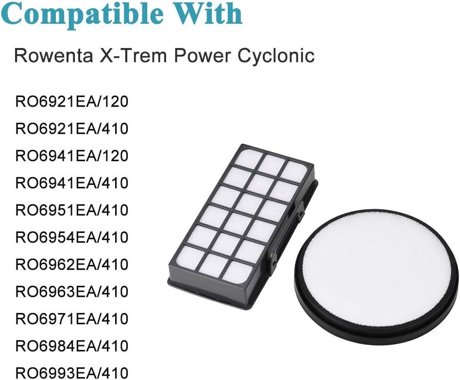 Filter for Rowenta X-Trem Power Cyclonic Vacuum Cleaner RO6941EA RO6963EA RO6984EA RO6993EA: Amazon.es: Hogar