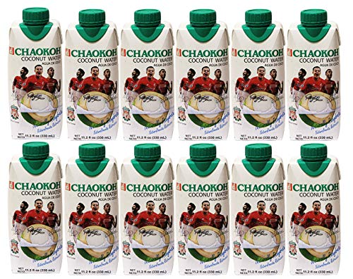 Chaokoh 100% Naturally Rehydrate Real coconut water 11.20 fl oz (pack of 12)