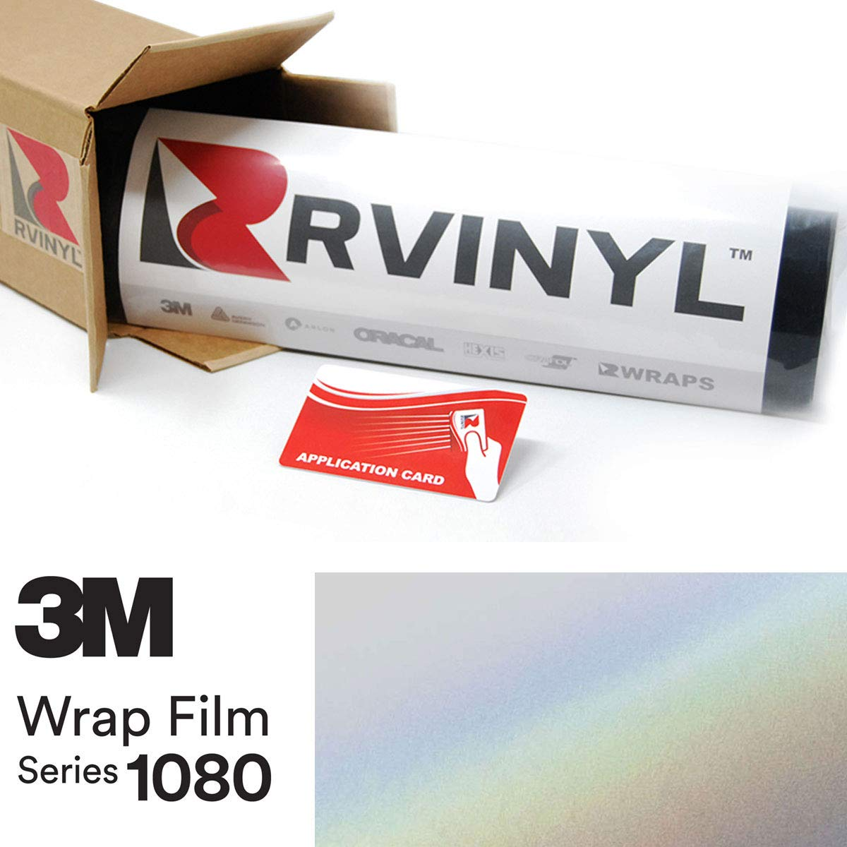 Vinyl Vehicle Car Wrap Film Sheet Roll Rvinyl 3M 1080 SP280 Satin FLIP Ghost Pearl 4in x 6in Sample Size