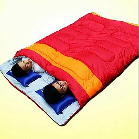 Saco de dormir al aire libre, doble/espesamiento, pareja , red