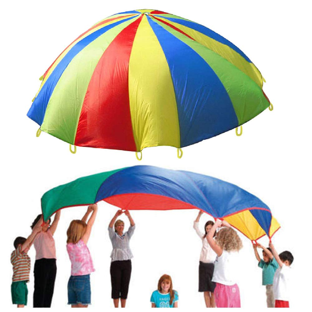 hicollie Rainbow Parachute Outdoor Game Family Exercise Sport Toy by hicollie