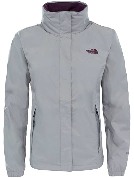 The North Face W Resolve 2 Chaqueta, Mujer, Plateado (Metallic Silver),