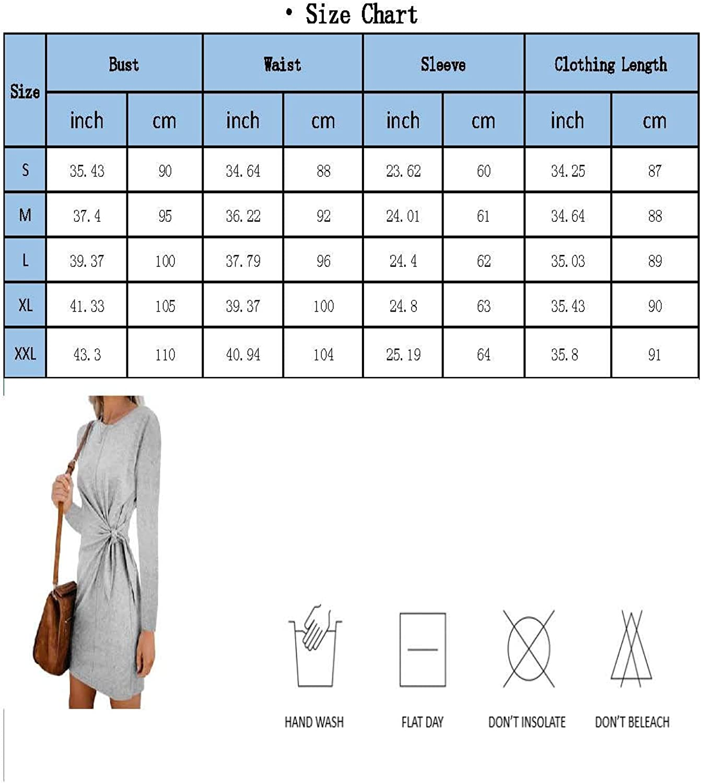 Women's Summer Elegant Casual Short Sleeve Solid Round Neck Tie Waist Short Dress Mini Dress 7434-green