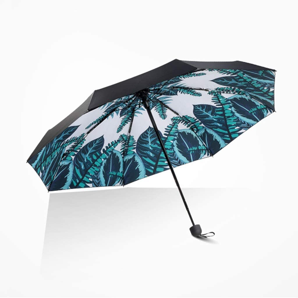 Color : B Windproof Umbrella 8 Bone Umbrella Frame Sunshade UV Rain and Rain Dual-use Ultra-Easy Folding Mini Five-fold Umbrella