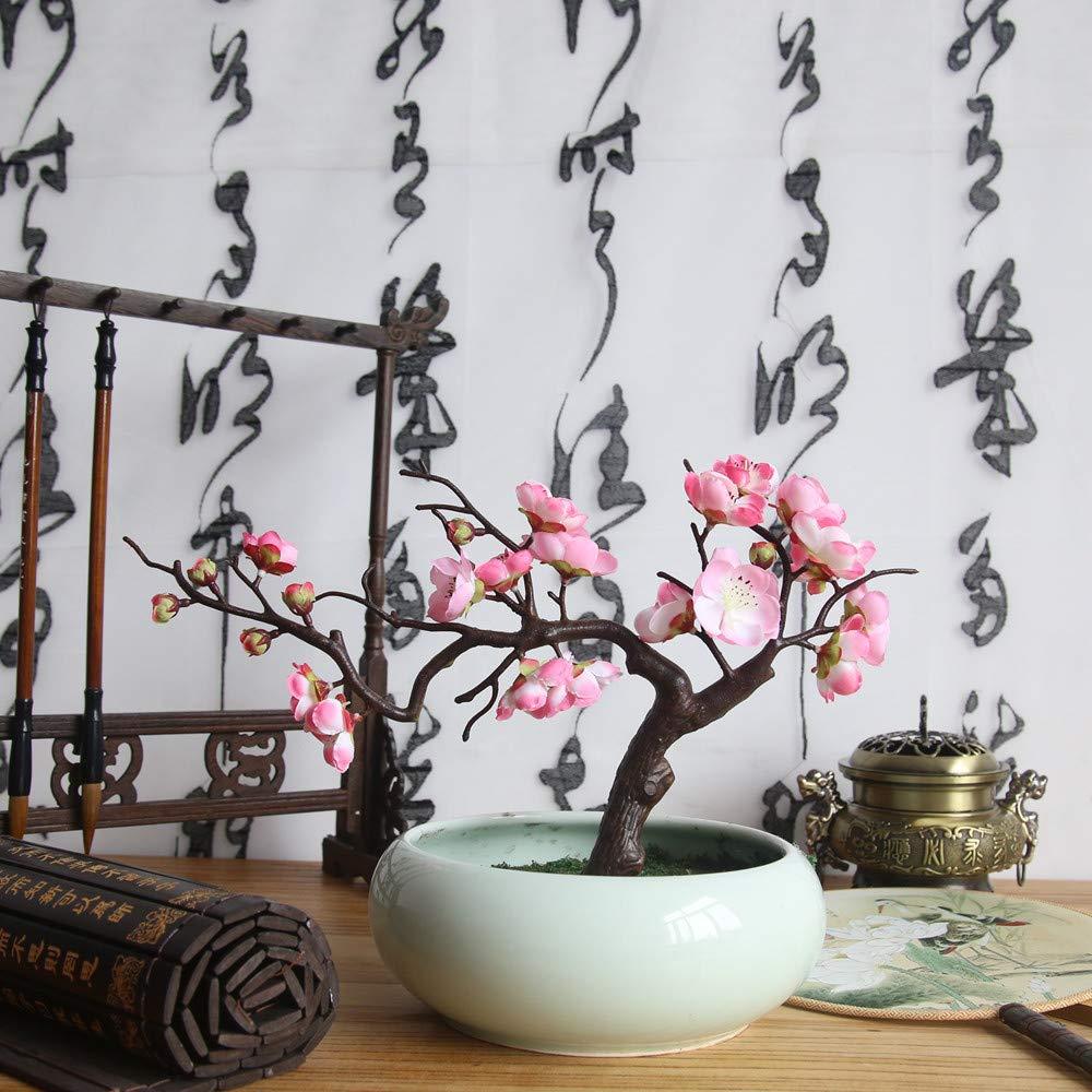 Rose HuaCat Bouquet de Prunes Faux Fleurs Artificielles Fleur de Prunier La Floraison des Cerisiers Japonais Bouquet de Mariage Floral D/écoration de Maison