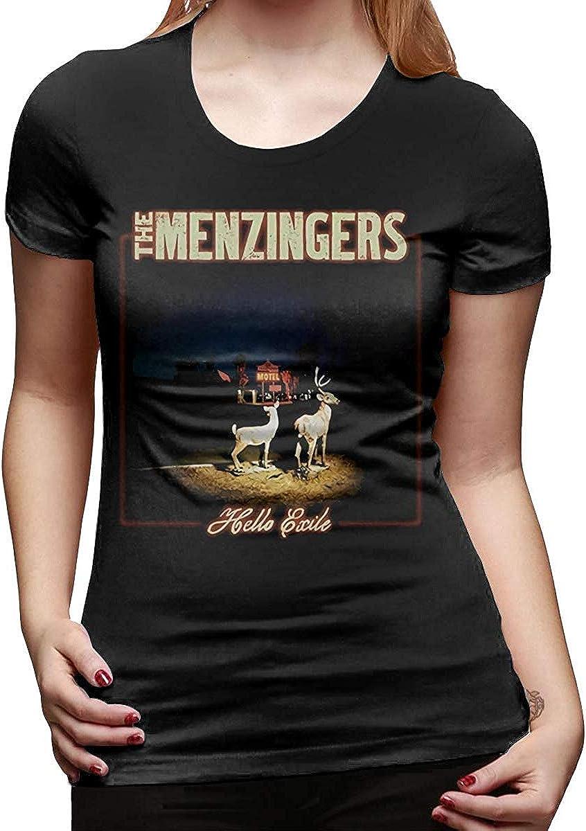Allforenjoy Cool Rock The Menzingers Hello Exile Music Band Concert Fashion Camiseta de Manga Corta para Mujer