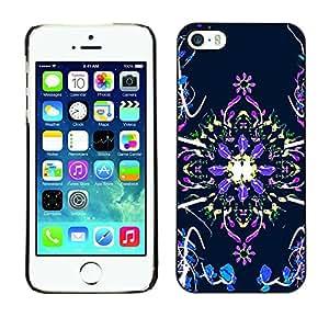 Jordan Colourful Shop - Electric Green Abstract Laser For iPhone 5 / 5S Personalizado negro cubierta de la caja de pl????stico