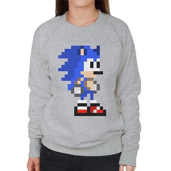 Cloud City 7 Sonic The Hedgehog Pixel Avatar Womens Sweatshirt