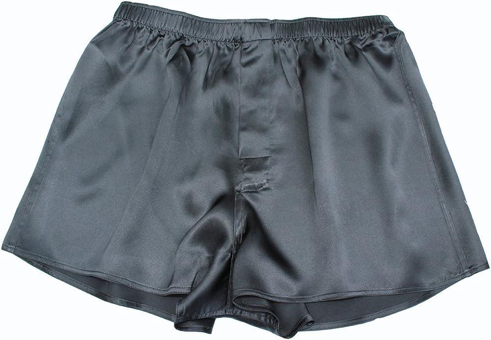 Jasmine Silk Mens Classic Silk Boxer Shorts Black