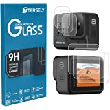 TERSELY Screen Protector for GoPro Hero 8 Black, [3 Packs,6 Pcs] 9H Hardness Tempered Glass Screen Protector Front Camera + Back Glass Lens Protector Film for Go Pro Hero8 Black (2019 Released)