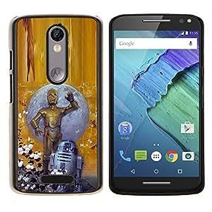 """Be-Star Único Patrón Plástico Duro Fundas Cover Cubre Hard Case Cover Para Motorola Droid Turbo 2 / Moto X Force ( Estrella Fellows"""" )"""