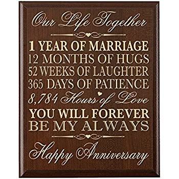 this item 1st wedding anniversary wall plaque gifts for couple 1st anniversary gifts for her1st wedding anniversary gifts for him 12 w x 15 h wall