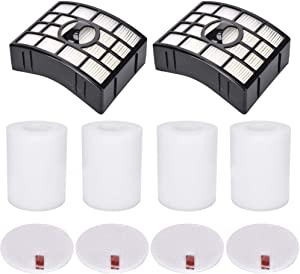 Eztronics Corp2 HEPA + 4 Foam & Felt Filters for Shark Rotator Powered Lift-Away XL Capacity NV755, UV795 Vacuum Cleaner, Compare to Part # XFF750 & XHF750 Replacement Filter Set