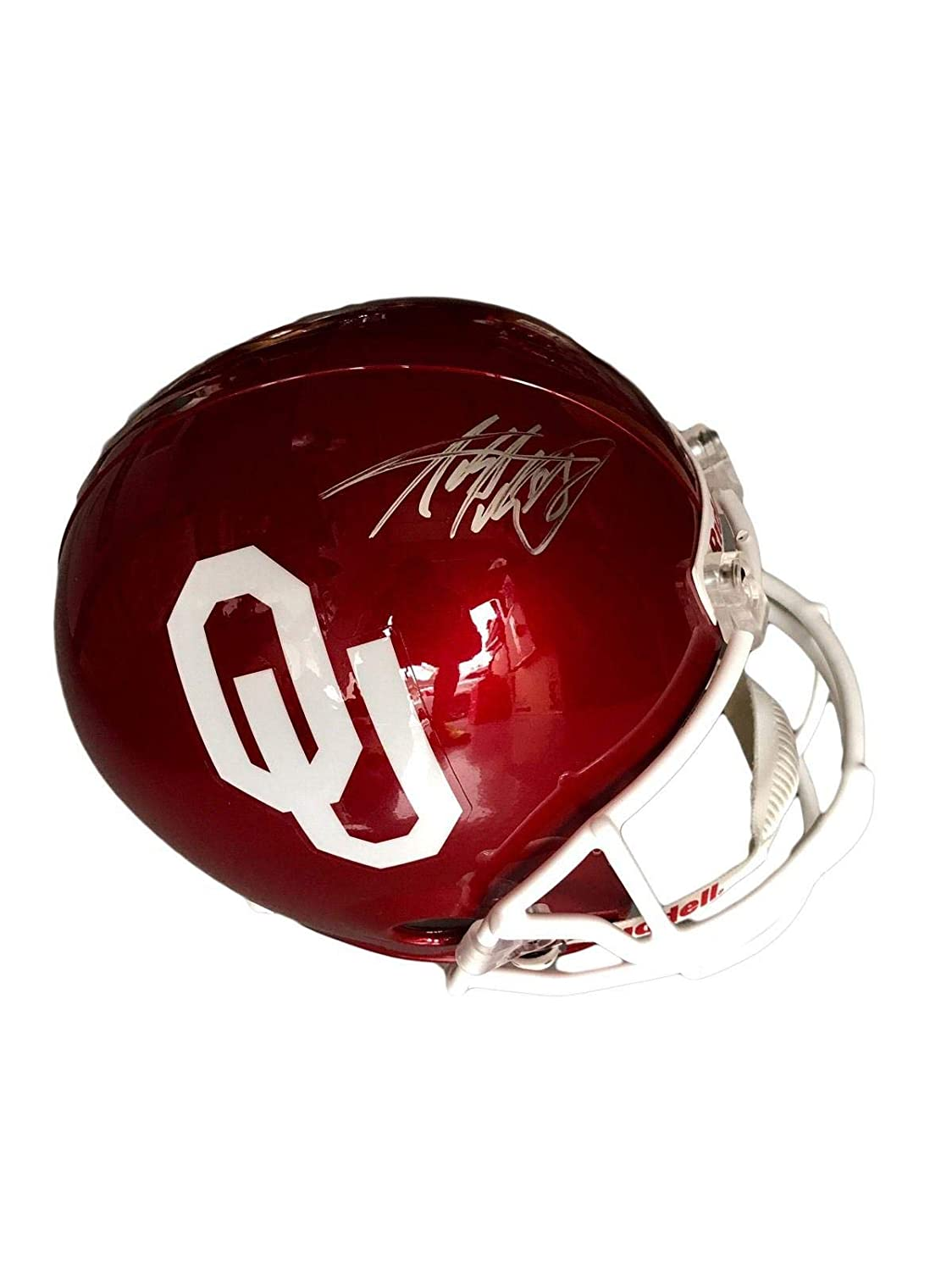 Amazon.com  Adrian Peterson Oklahoma Sooners Signed Full Size Helmet - PSA  DNA Certified - Autographed College Helmets  Sports Collectibles 9ad0446b8