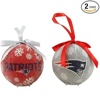 New England Patriots Snowflake Christmas Ornament