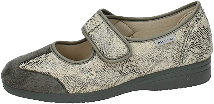 MADE IN SPAIN 808 Zapatillas DE Velcro SEÑORA Zapatillas Gris 37: Amazon.es: Zapatos y complementos