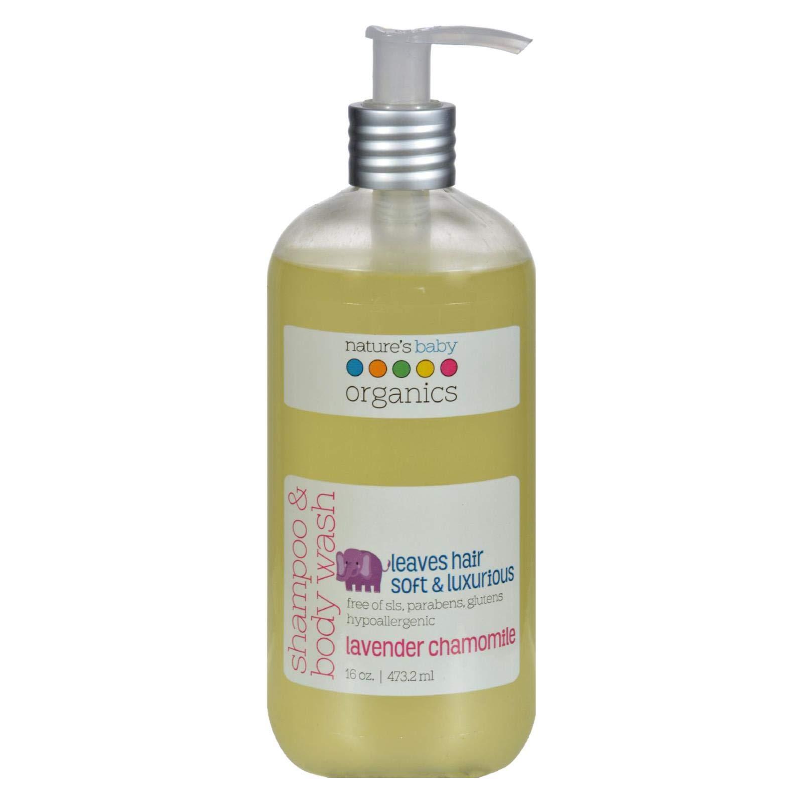 Nature's Baby Organics Shampoo & Body Wash, Vanilla Tangerine, 8 oz   Babies, Kids, & Adults! Moisturizing, Organic, Soft, Natural, Suave, Hypoallergenic   No Harsh Chemicals Or Parabens, SLS, Glutens by Nature's Baby Organics