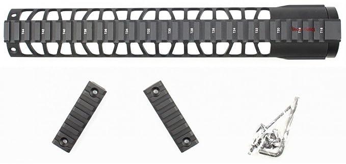 TAC la óptica del Vector KeyMod táctica flotante libre desacoplamiento soporte de montaje con carriles desmontable Color negro: Amazon.es: Deportes y aire ...