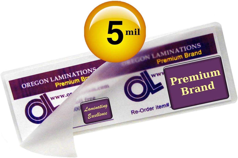 500 BOOKMARK LARGE Laminating Laminator Pouches Sheets 2-3//8 x 8-1//2 5 Mil Gloss