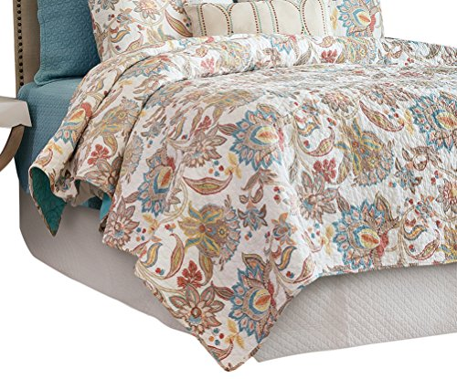 C&F Home Lucianna Quilt, King, Aegean/Rust/Gold by C&F Home