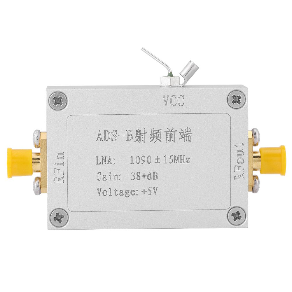 ADS-B 1090MHz RF Preamplifiers Front-end Radio Frequency Low Noise Amplifier 38dB Gain LNA Hilitand