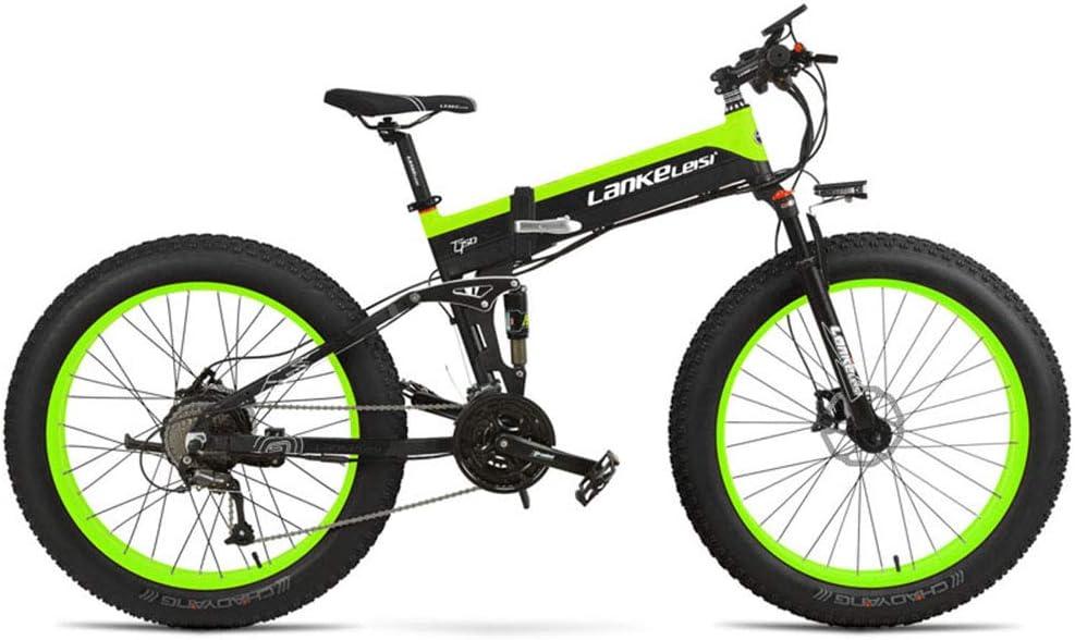 Cyrusher XT750 Plus 折りたたみアシスト自転車 500W 48V 10Ah シマノ27段変速 アルミ合金フレーム フルサスペンション 油圧ディスクブレーキ 通勤 通学 山登り お得 黒緑