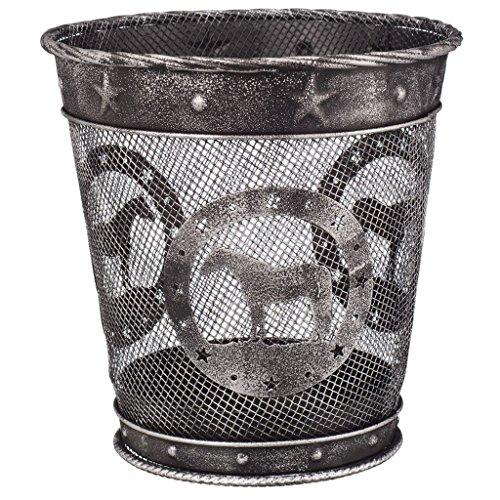 Wastebasket Silver Quarter Horse