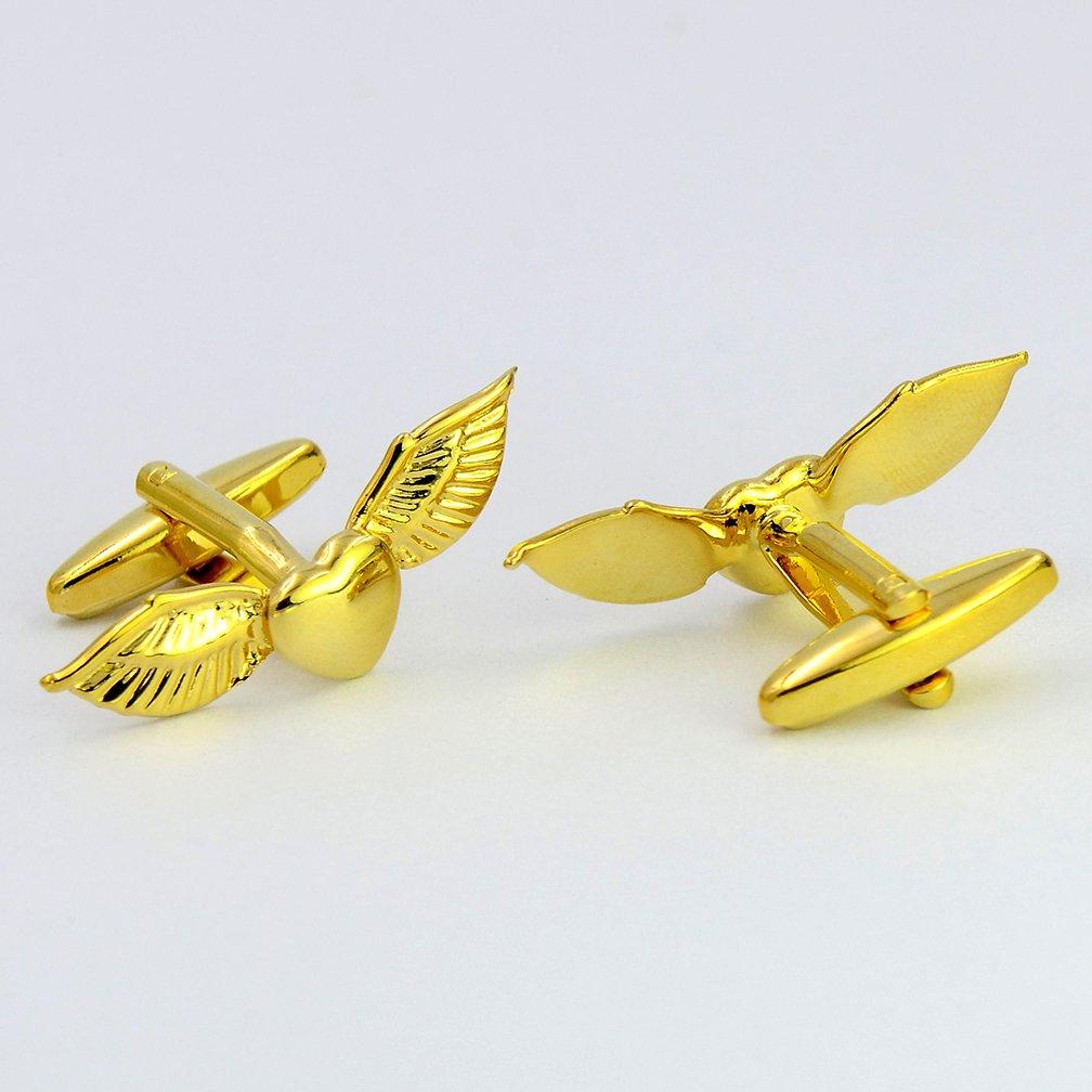 ENVIDIA Flying C/œur Ailes dange Boutons de Manchette Entreprises Cadeaux de f/ête avec bo/îte