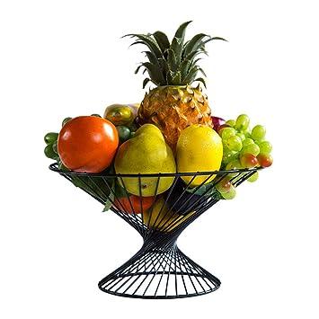 Cocina Cesta de fruta del Cesta de frutas Bandeja de exhibición de metal Plato de frutas ...