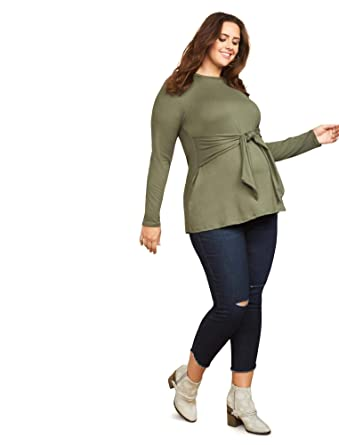 4e1bb180cf0fe Jessica Simpson Plus Size Secret Fit Belly Skinny Leg Maternity Ankle Pants  at Amazon Women's Clothing store: