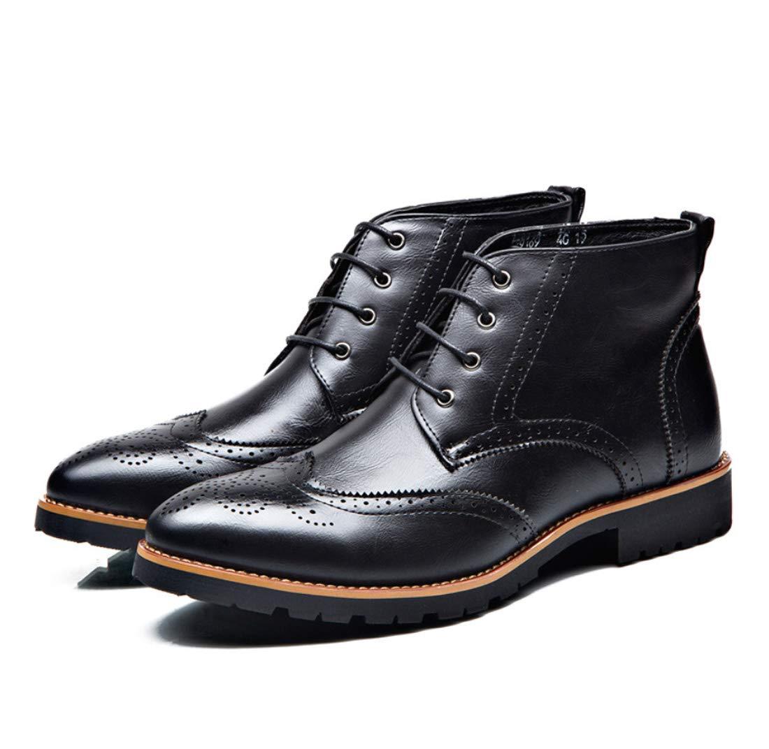 DANDANJIE Herren Stiefel Brogue Ankle Stiefel Geschnitzte Arbeit Safty Stiefel Handmade Oxford Stiefel