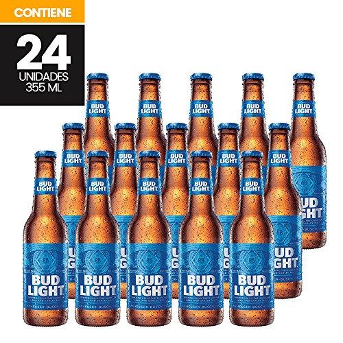 Cerveza Bud Light, 24 piezas de 355 ml c/u