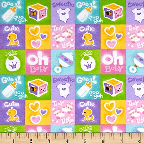 Snuggle Flannel - A.E. Nathan 0554885 Comfy Flannel Prints Baby Patch Multi Fabric by The Yard, Multicolor