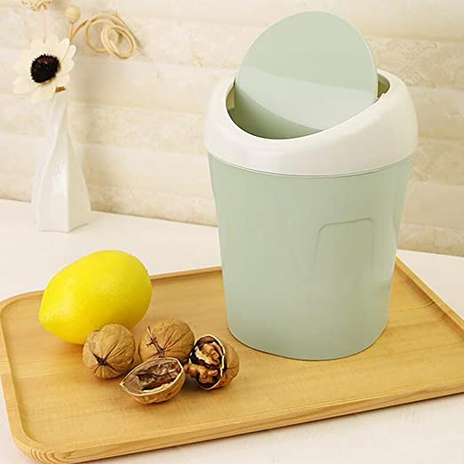 Home Room Trumpet Desktops Mini Creative Covered Kitchen Living Small Trash Can