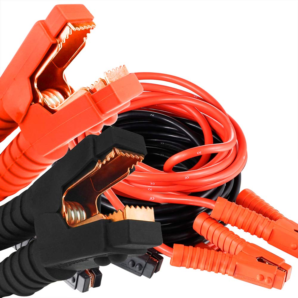 Auto Jumper Cables 1 Gauge 1200AMP 20Ft Heavy Duty Booster Cables, for Car Van Truck Petrol / Diesel Automotive Engines by Audeuk