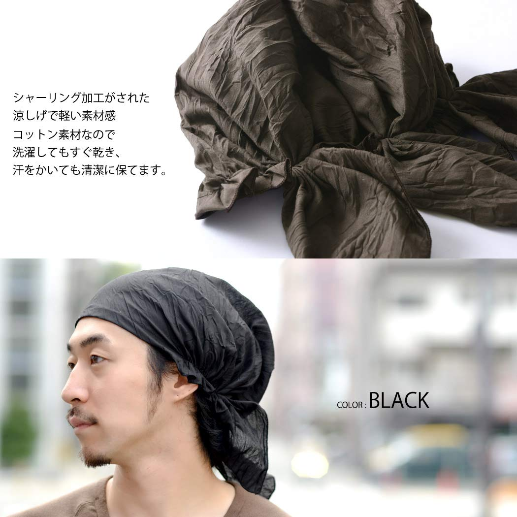 Casualbox Mens Cotton Bandana Cap Hat Headwear Summer Loose Summer