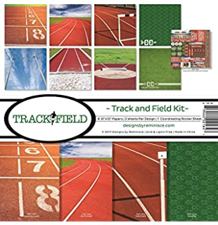 Reminisce Track and Field Collection Scrapbook Kit