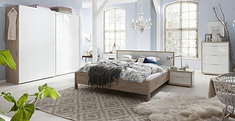 Camera Da Letto Bianco Lucido : Camera da letto matrimoniale componibile completa color rovere