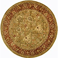 Safavieh Persian Legend Collection PL519B Handmade Traditional Light Green and Rust Wool Round Area Rug (36 Diameter)
