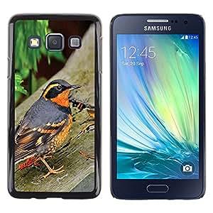 Naturaleza Pájaro Primavera Árboles Verano Naranja- Metal de aluminio y de plástico duro Caja del teléfono - Negro - Samsung Galaxy A3