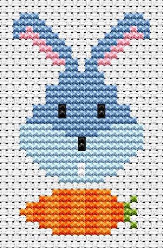 Sew Simple Bunny Head Cross Stitch Kit by Fat Cat Cross Stitch