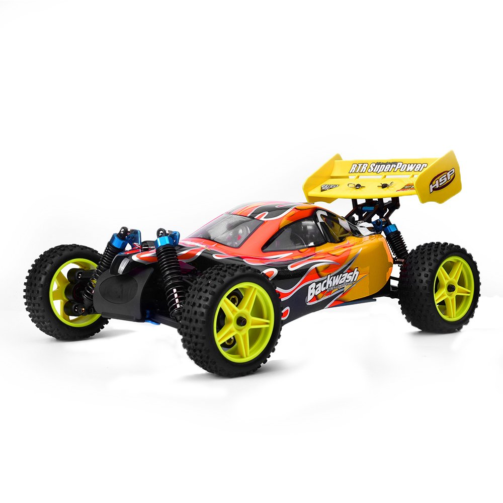 Hsp Racing Rc Car 94166 Nitro Gas 1 10 Scale Off Road Buggy 4wd Two Glowplug Driver For Radio Control Speed Hobby Remote Contral Toy Cars Toys Games