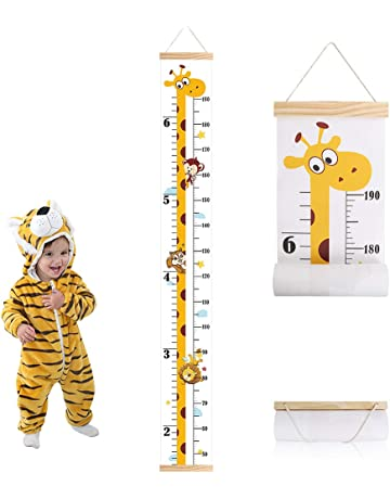 Wall Ruler Measure Chart for Child Removable Wall Hanging Measurement Chart Room Decoration for Girls Boys FIOBEE Baby Growth Chart Kids Height Chart Toddlers
