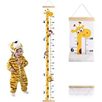 Outivity Baby Growth Height Chart, Hanging Ruler Wall Decals for Kids Boys Girls, Canvas and Wood Removable Measure Wall…