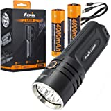 Fenix LR35R 10000 Lumen Rechargeable LED Flashlight with Lumentac Battery Organizer, Long Throw and Super Bright