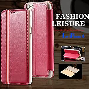 5pcs/lot! Leather Case For iphone 6 Plus 5.5inch Wallet Mobile Phone Cases Stripe Support Bag Cover For iphone 6 4.7'' Shell --- Color:white For I6 Plus