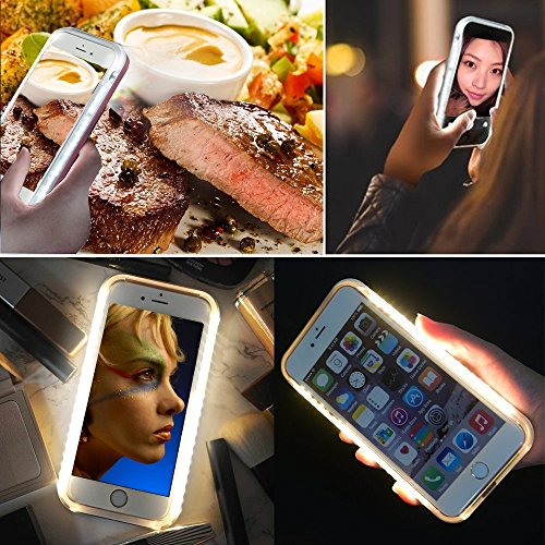 LED comfortable Up Selfie court case Illuminated Cell cellular court case Cover Rechargeable electricity comfortable Selfie for iPhone 7 Plus went up Gold Battery Charger Cases