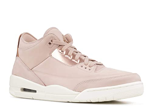 455048be2bf Jordan Women's WMNS Air 3 Retro SE, Particle Beige/MTLC RED Bronze, 8.5