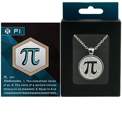 Amazon Com Pi Pendant Necklace Gift Box Edition Math Nerd